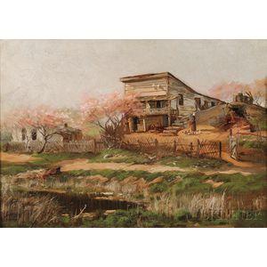 James Henry Moser (American, 1854-1913)      The Flats, Washington, D.C.