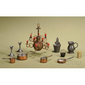 Ten Miniature Metal Accessories
