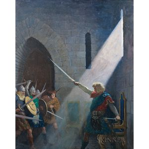 Newell Convers Wyeth (American, 1882-1945)      Wallace Draws the King