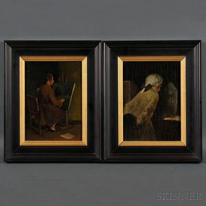 S. Seeberger (European, 19th/20th Century)    Two Works: Artist at his Easel