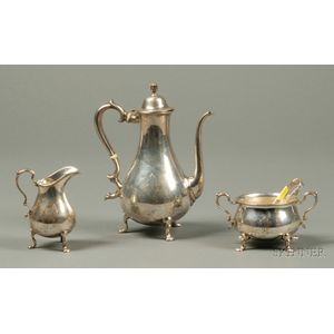 Three-Piece Sterling Demitasse Set