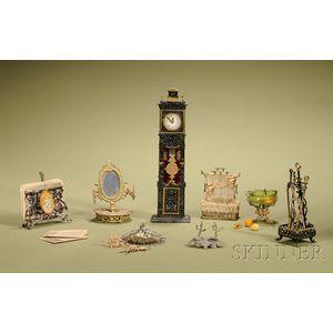 Eight Miniature Soft Metal Accessories