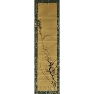 Hanging Scroll Depicting a Plum Branch