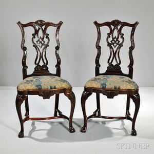 Pair of Anglo-Portugeuse Chippendale-style Chairs