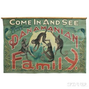 """Painted """"Panamanian Family"""" Carnival Banner"""