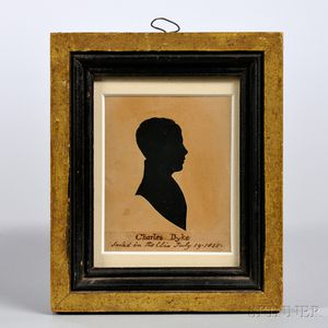 British School, 19th Century      Silhouette of Charles Dyke, c. 1830