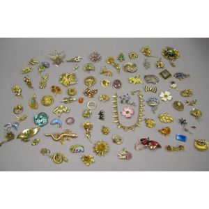 Group of Costume Jewelry Brooches