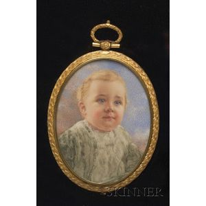 Portrait Miniature of Baby Seymour Morris III