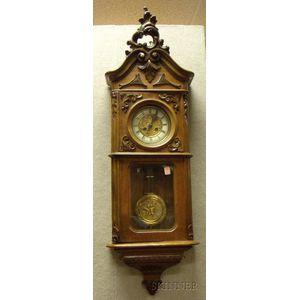 Walnut German Wall Clock