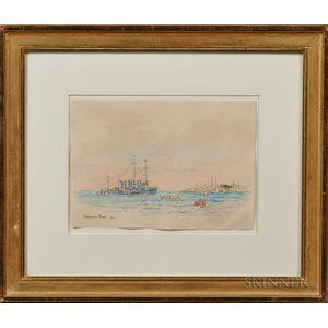Reynolds Beal (American, 1867-1951)      Leaving Key West