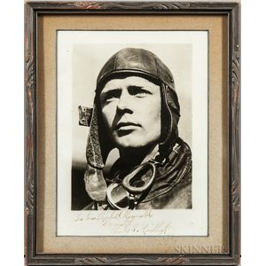 Lindbergh, Charles (1902-1974) Signed and Inscribed Photograph.