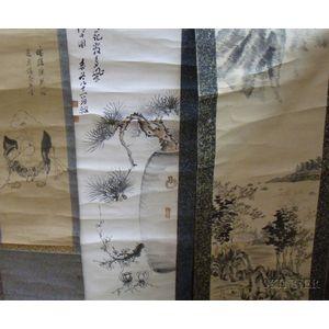 Three Asian Scroll Paintings