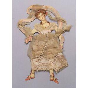 Handmade Dancing Paper Doll