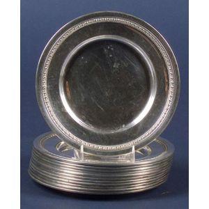 Set of Twelve Sterling Side Plates