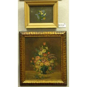 Two Framed 19th/20th Century American School Floral Still Lifes