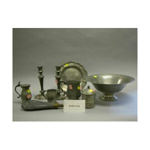 Thirty-five Pieces of Assorted Pewter Hollowware