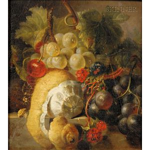 Manner of Cornelis de Heem (Flemish, 1631-1695)      Still Life with Fruit