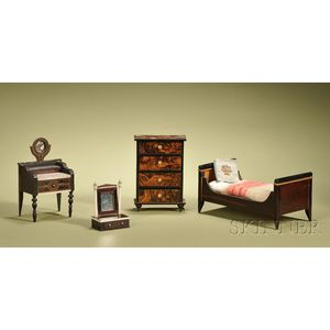 Four Pieces of Early Waltershausen Bedroom Furniture