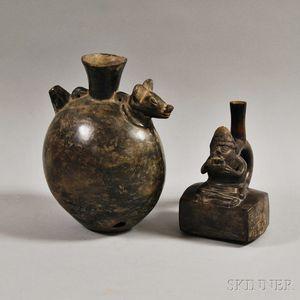 Two Chimu Blackware Vessels
