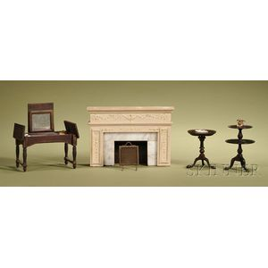Five Vintage and Contemporary Miniature Furniture Items