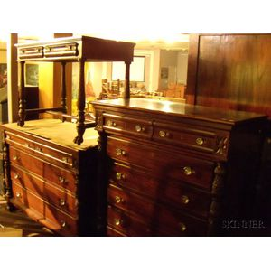 Five-piece Classical-style Carved Mahogany Bedroom Set