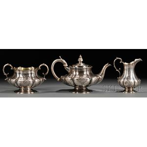 Three-piece Sterling Silver Tea Set