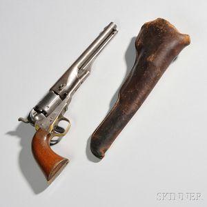 Colt Model 1861 Navy Revolver and Holster