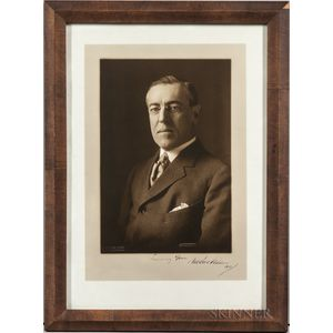 Wilson, Woodrow (1856-1924) Signed Photograph.