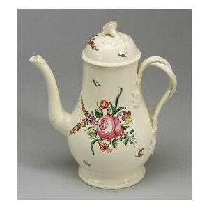 Leeds-type Creamware Coffeepot and Cover