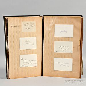 Autograph Book, mid-1920s, Winston Churchill, Rudyard Kipling, Theodore Roosevelt, Thomas Edison, and Others.