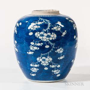 Blue and White Hawthorn Ginger Jar