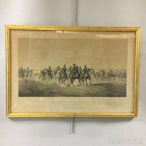 Framed John C. Buttre Sherman At Savannah, GA   Print