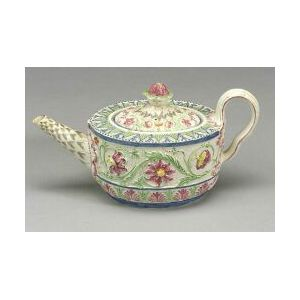 Staffordshire Pearlware Teapot and Cover