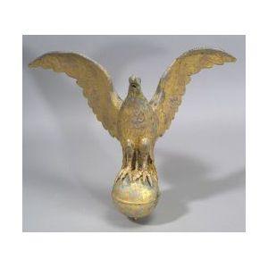 Gilded Copper Eagle Weather Vane