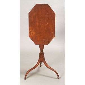 Federal Red-Stained Birch Tilt-top Candlestand