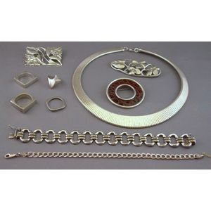 Ten Pieces of Sterling Silver Jewelry