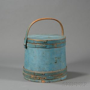 Blue-painted Firkin
