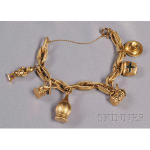 18kt Gold Charm Bracelet