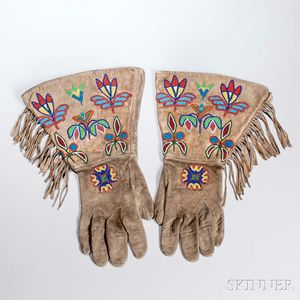 Plains/Plateau Beaded Hide Gauntlets
