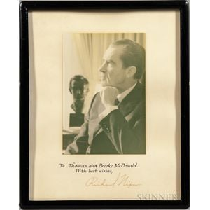 Nixon, Richard (1913-1994) Signed Photograph.