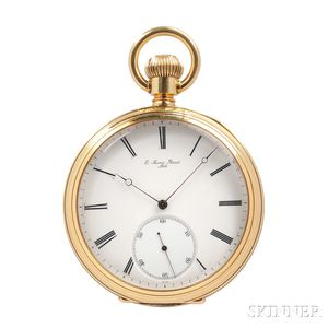 E. Savoie Perret 18kt Gold Open Face Chronometer