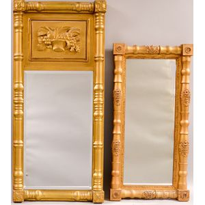 Two Federal Gilt-gesso Split-baluster Mirrors