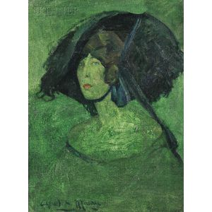 Alfred Maurer (American, 1868-1932)      Green Lady