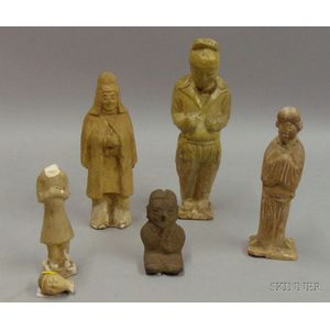 Five Early Chinese-style Figurines