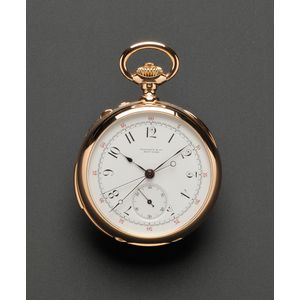 Minute Repeating Split Second Chronograph Pocket Watch, Tiffany & Co., Patek