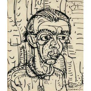 Hans Hofmann (German/American, 1880-1966)      Head of a Student