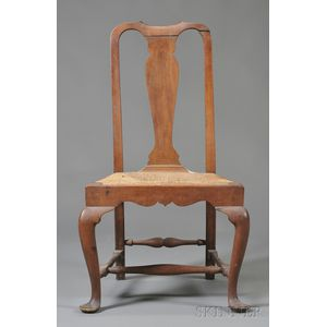 Queen Anne Carved Maple and Cherry Side Chair