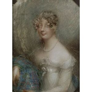 Continental School, 19th Century  Miniature Portrait of a Lady, Possibly Marie Antoinette.