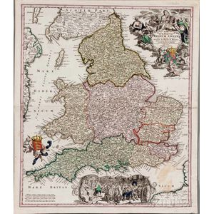Maps, and Title-pages, Six Unframed Prints.