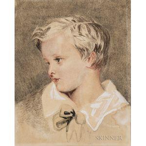 Attributed to Joshua Reynolds (British, 1723-1792)      Head of a Boy